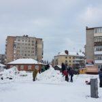 Стартовал конкурс снеговых скульптур (фото)