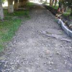 По вулиці Свободи кладуть тротуарну плитку (Фото)