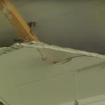 У Шостці в одному з класів І школи обвалилась стеля (Відео)