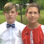 Шосткинські гімназисти привітали містян зі Святою Трійцею (Відео)