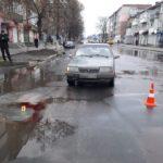 На улице Свободы ВАЗ наезал на пенсионера (фото)