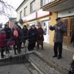 Мешканці селища Вороніж мітингували проти закриття терапевтичного відділення №2 (сюжет)