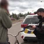 5 протоколів, 2 з яких за водіння у нетверезому стані. Поліцейскі Шостки виявляють порушників серед велосипедистів